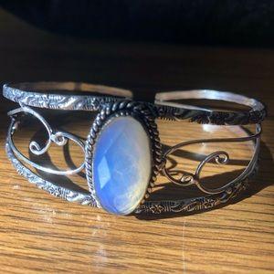 Jewelry - Milky opal silver cuff/ bracelet